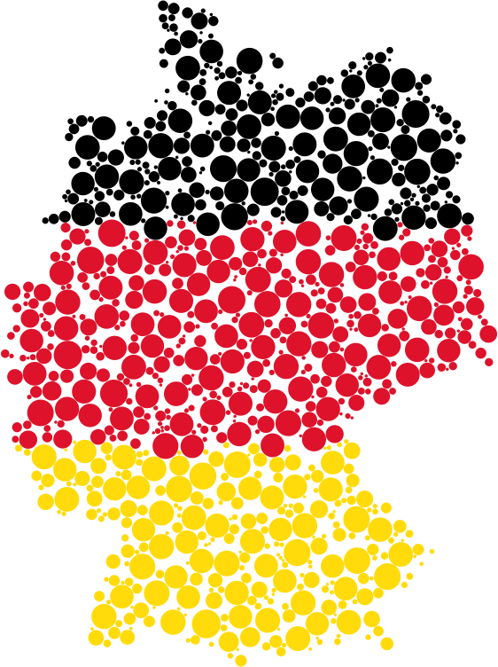 Flag circles medium image. Germany clipart map