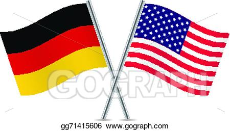 Vector art american and. Germany clipart usa