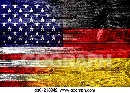 Germany clipart usa. Stock illustration and flag