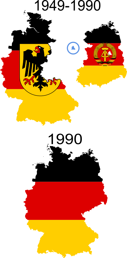 Germany clipart yellow. October is formally reunited