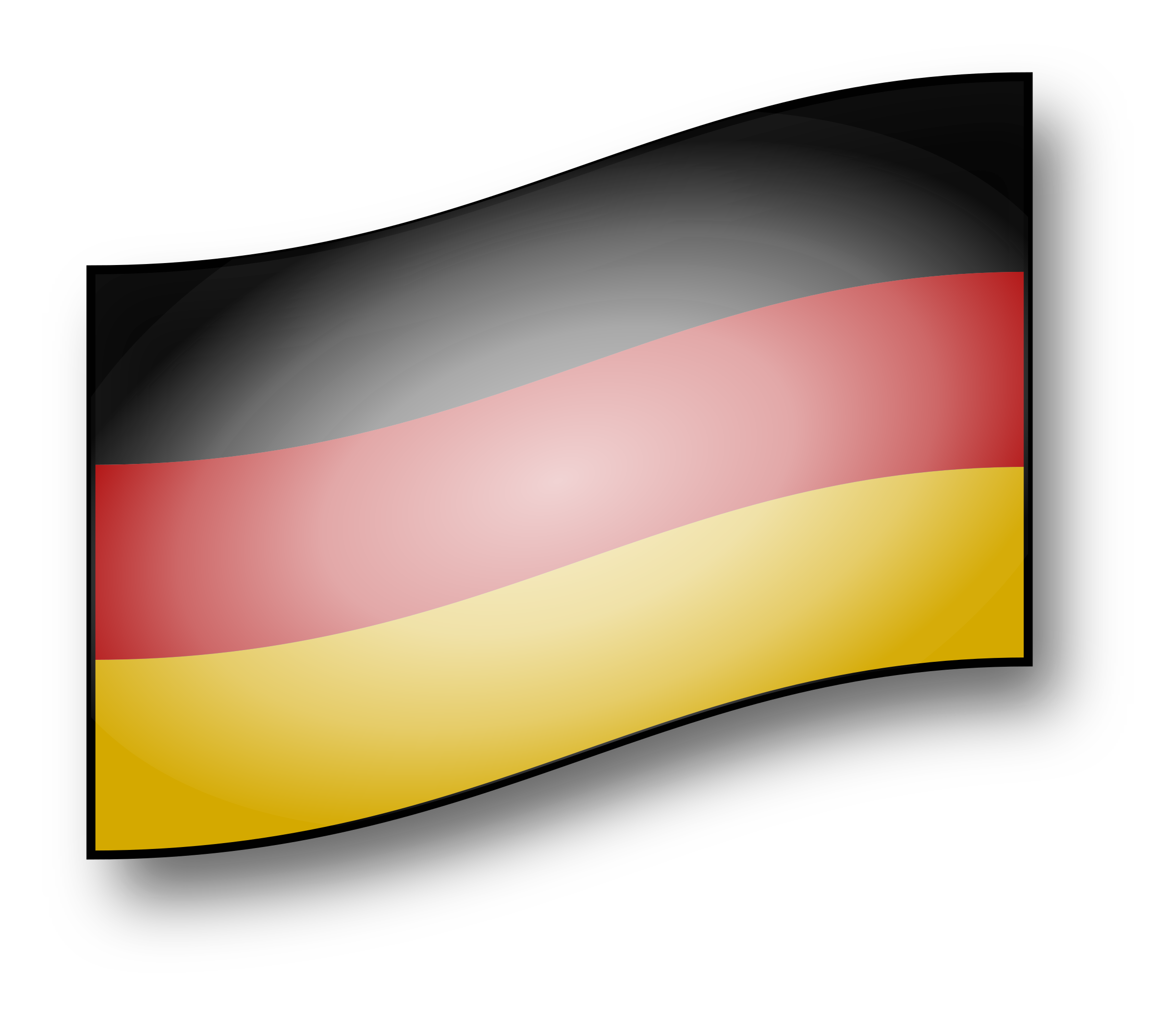 Germany clipart yellow. Clickable flag big image