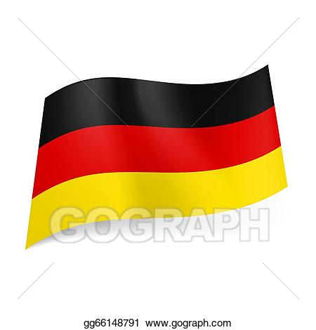 Germany clipart yellow. Eps illustration state flag