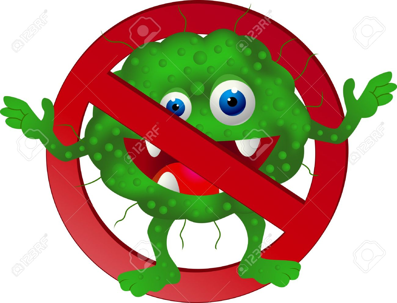Sick germ pencil and. Germs clipart