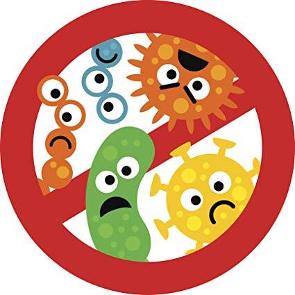 Cute kindergarten nursery anti. Germs clipart bacterial growth