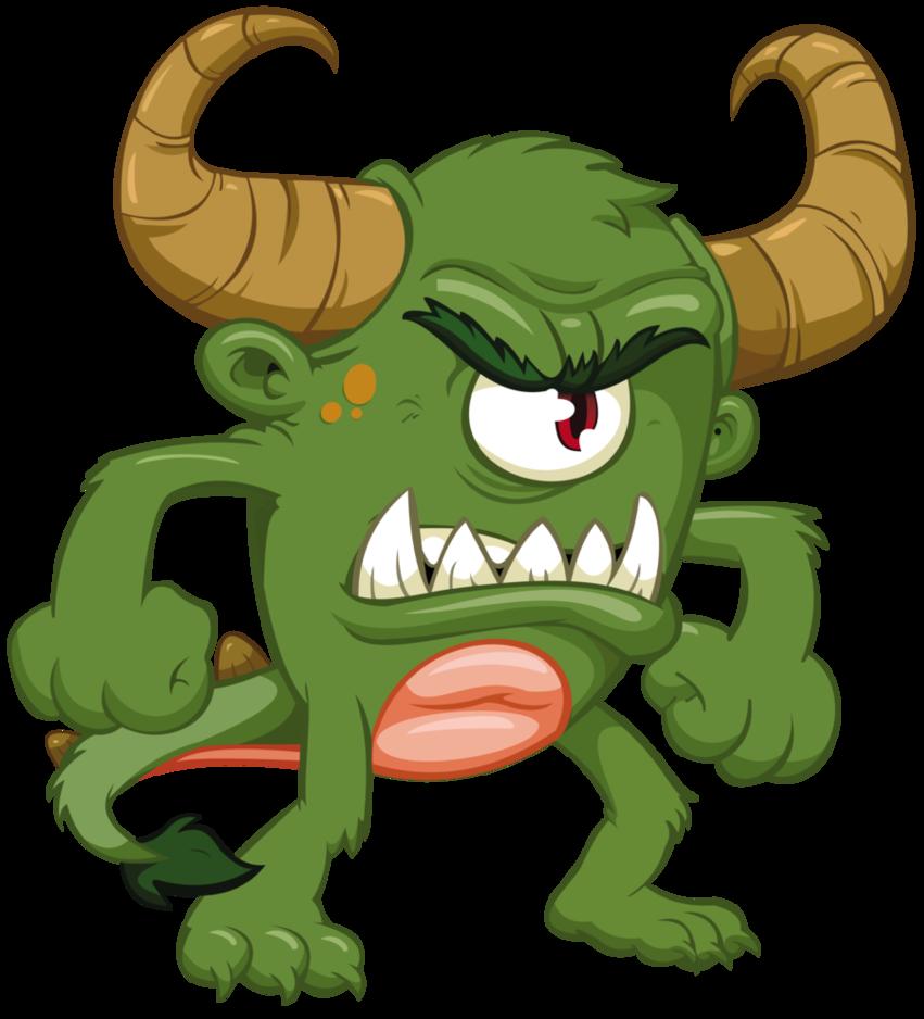 Horn clipart monster. August cute cyclops mascot