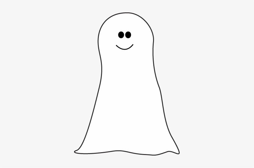 Cute leg . Ghost clipart black and white