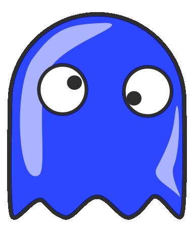 Ghost clipart blue ghost. Pac man clip art
