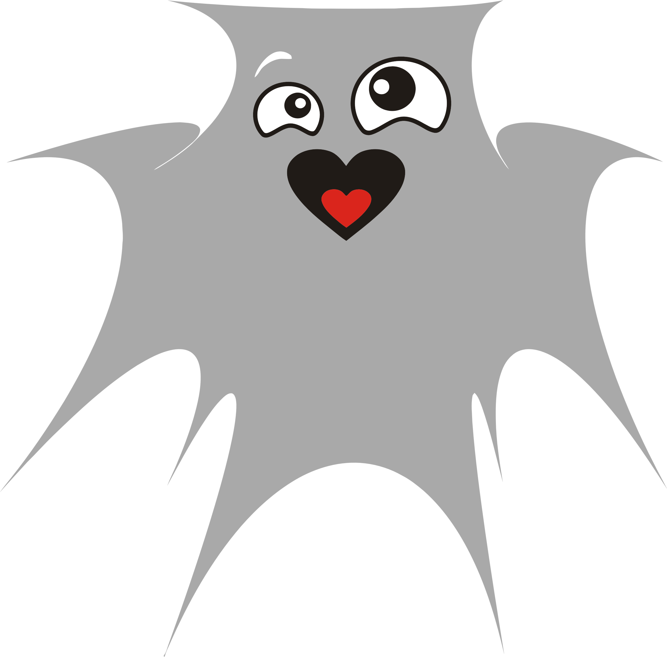 Ghost clipart character. In love big image