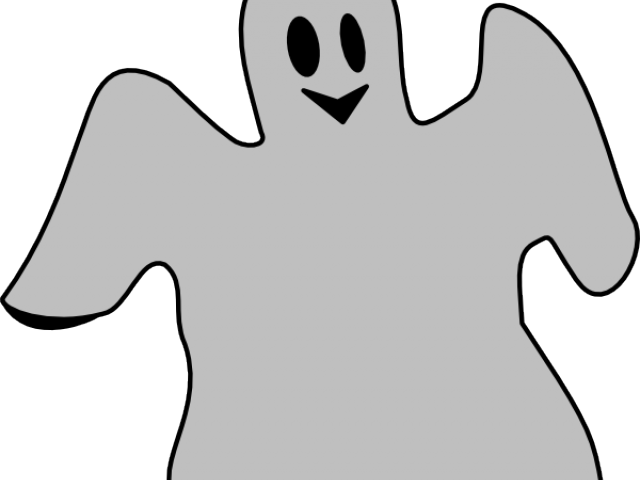 Outline clipart ghost. Scary free download clip
