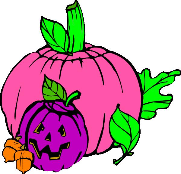 Girly clipart purple. Pumpkin clip art at