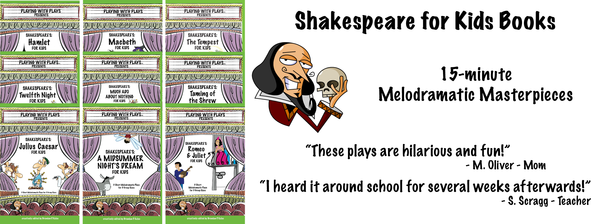 Shakespeare for kids books. Theatre clipart playscript