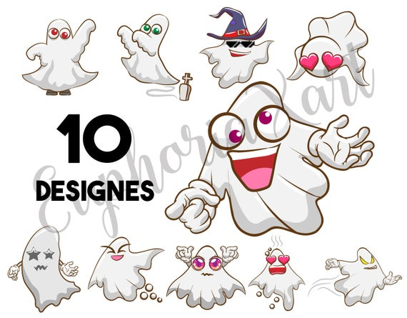 Bundle svg halloween spooky. Ghost clipart item