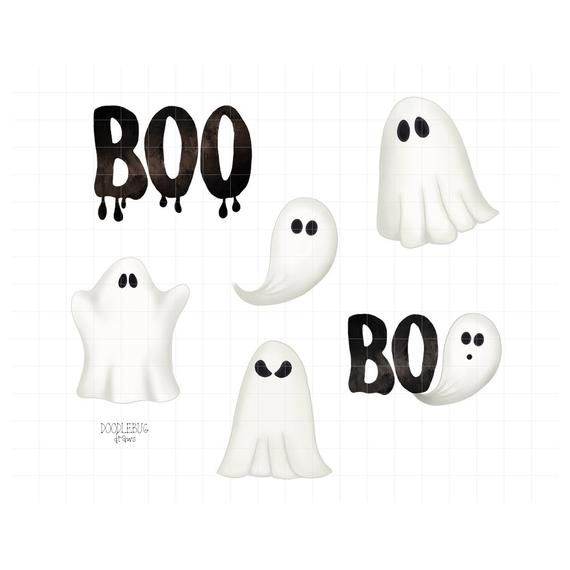 Ghost clipart item. Digital planner stickers halloween