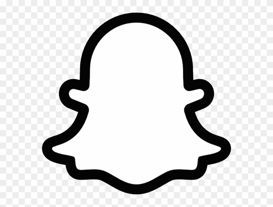 Snapchat png printable . Ghost clipart logo