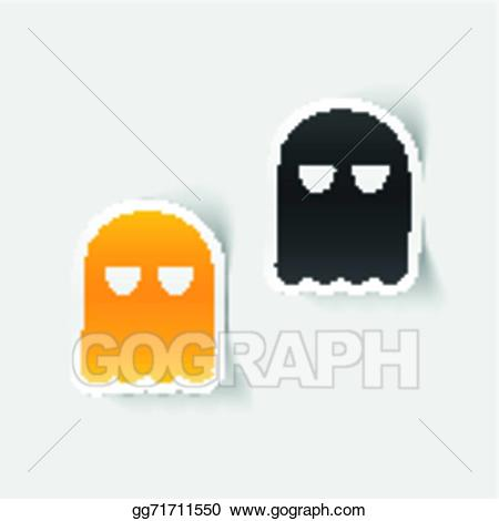 Ghost clipart realistic. Eps illustration design element
