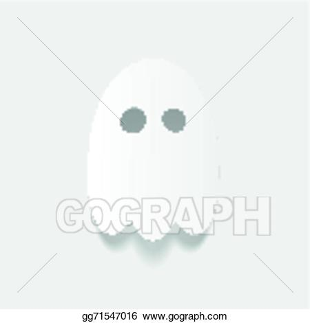 Eps illustration design element. Ghost clipart realistic