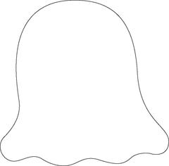 Ghost clipart shape. All products stock photo