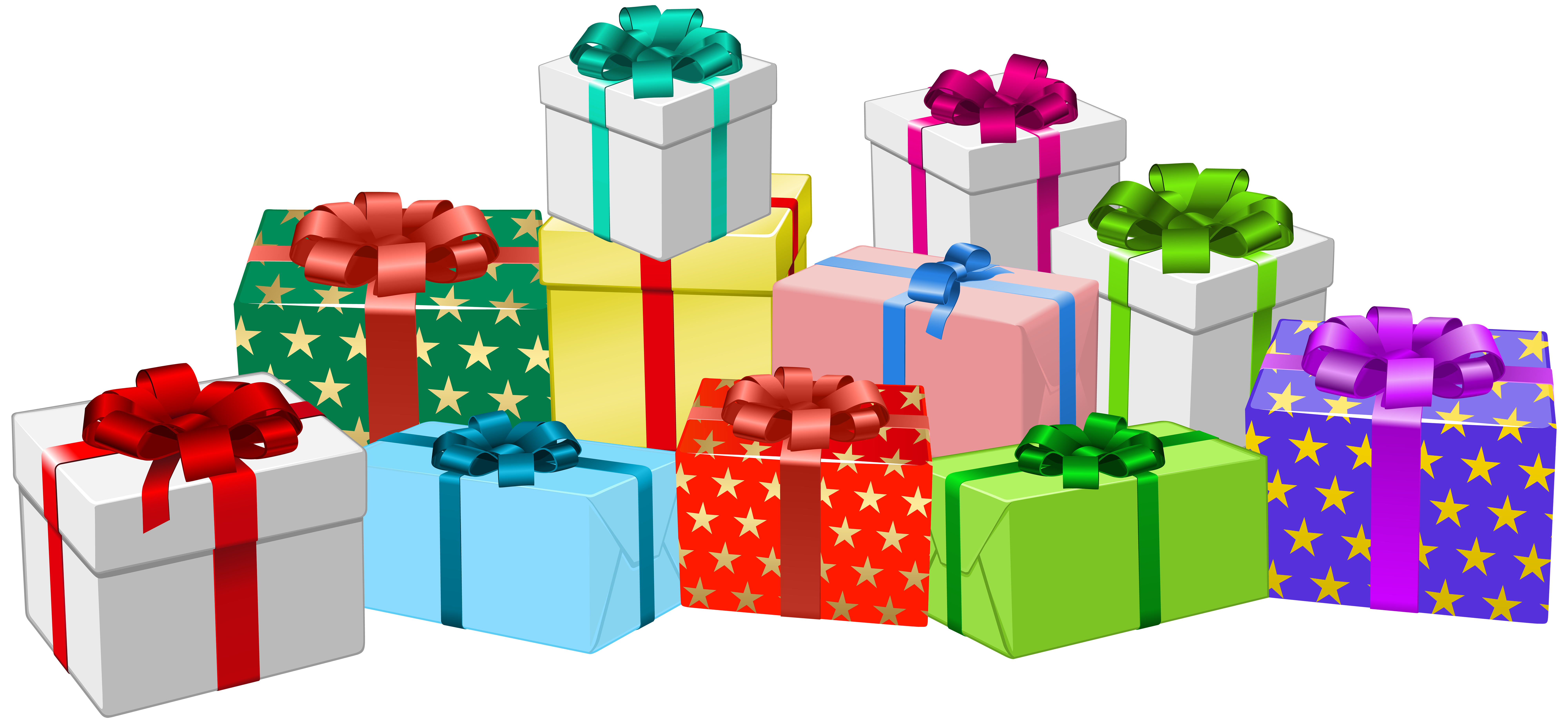 Gifts clipart. Gift boxes png clip