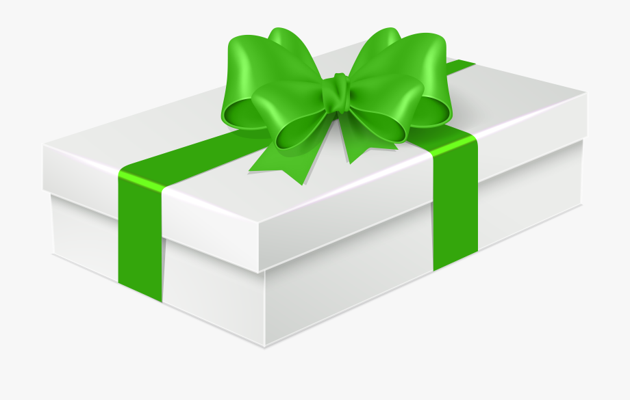 Gift green png . Gifts clipart birthday accessory