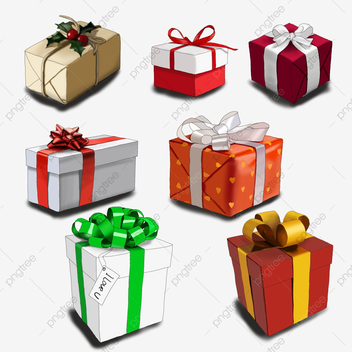 Gifts clipart bunch. A of gift box