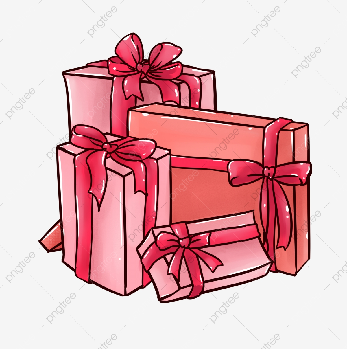 Gift clipart bunch. A of presents holiday