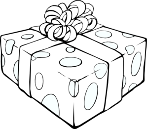 Gifts clipart present outline. Gift clip art at