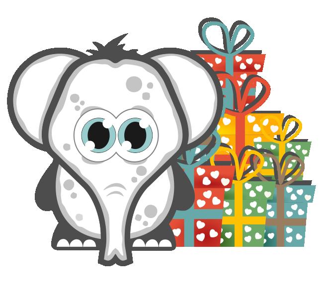 Gift clipart gift exchange. White elephant bob s