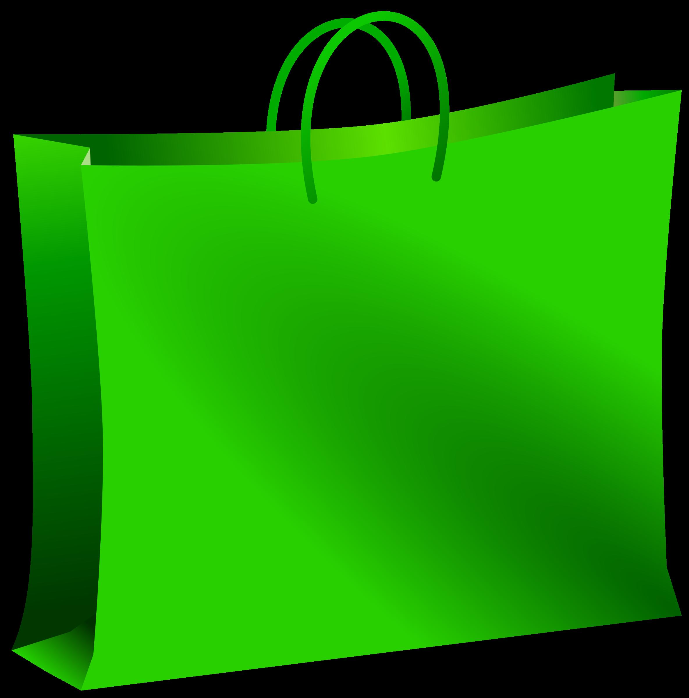 Green bag big image. Luggage clipart holiday