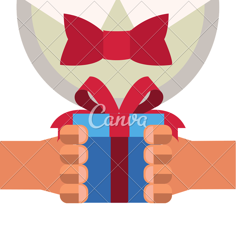 Man gift box with. Gifts clipart hand holding