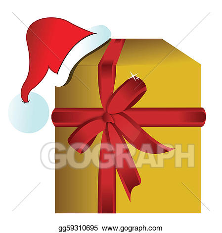 Gift clipart hat box. Eps vector present with