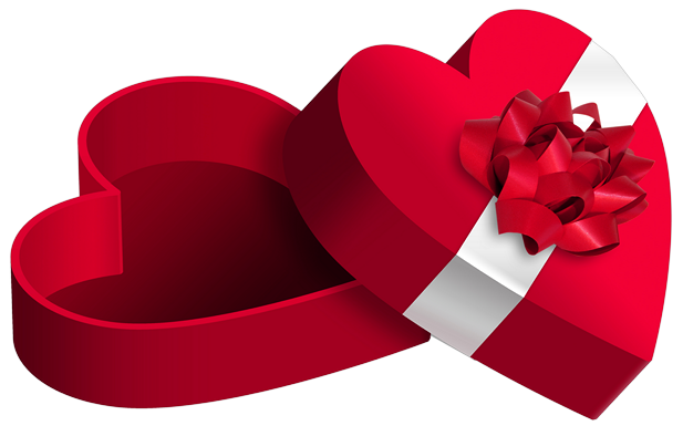 Cute red box gallery. Gift clipart heart gift