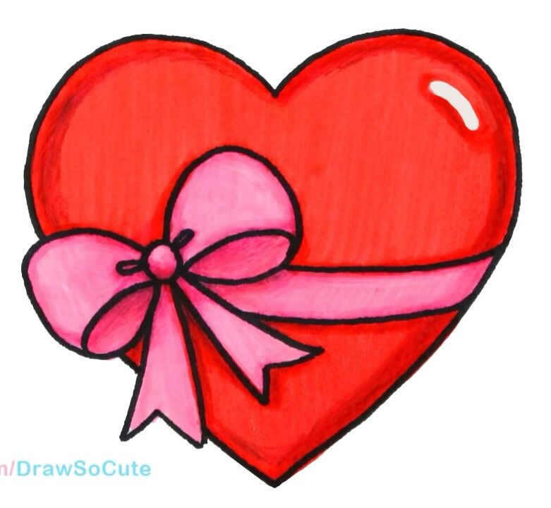 Gift clipart heart gift. Hearts in easy drawings