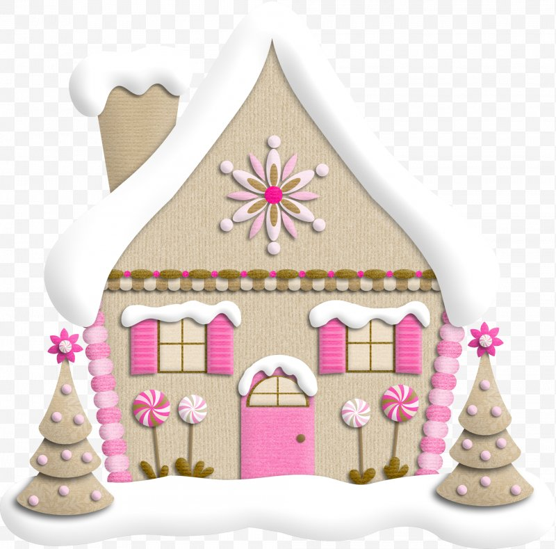 Santa claus christmas tree. Gift clipart house png