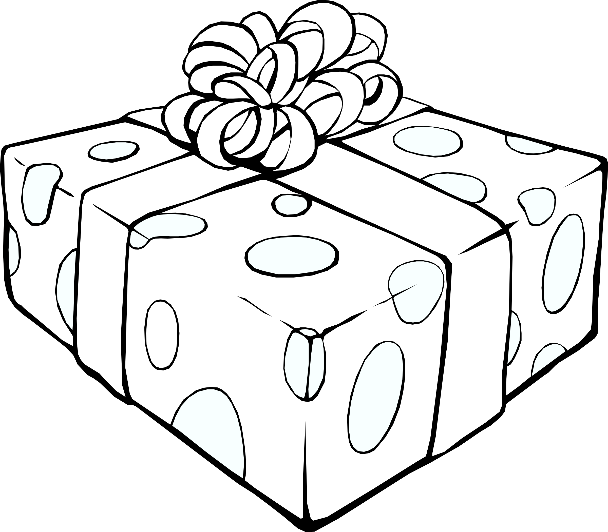 Gift big image png. Gifts clipart line art