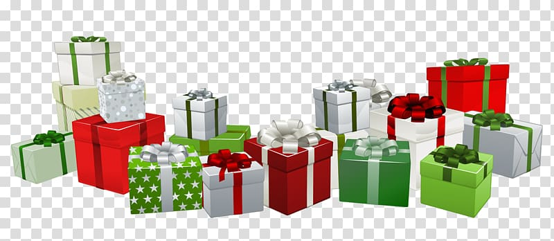 Christmas santa claus . Gift clipart lot presents