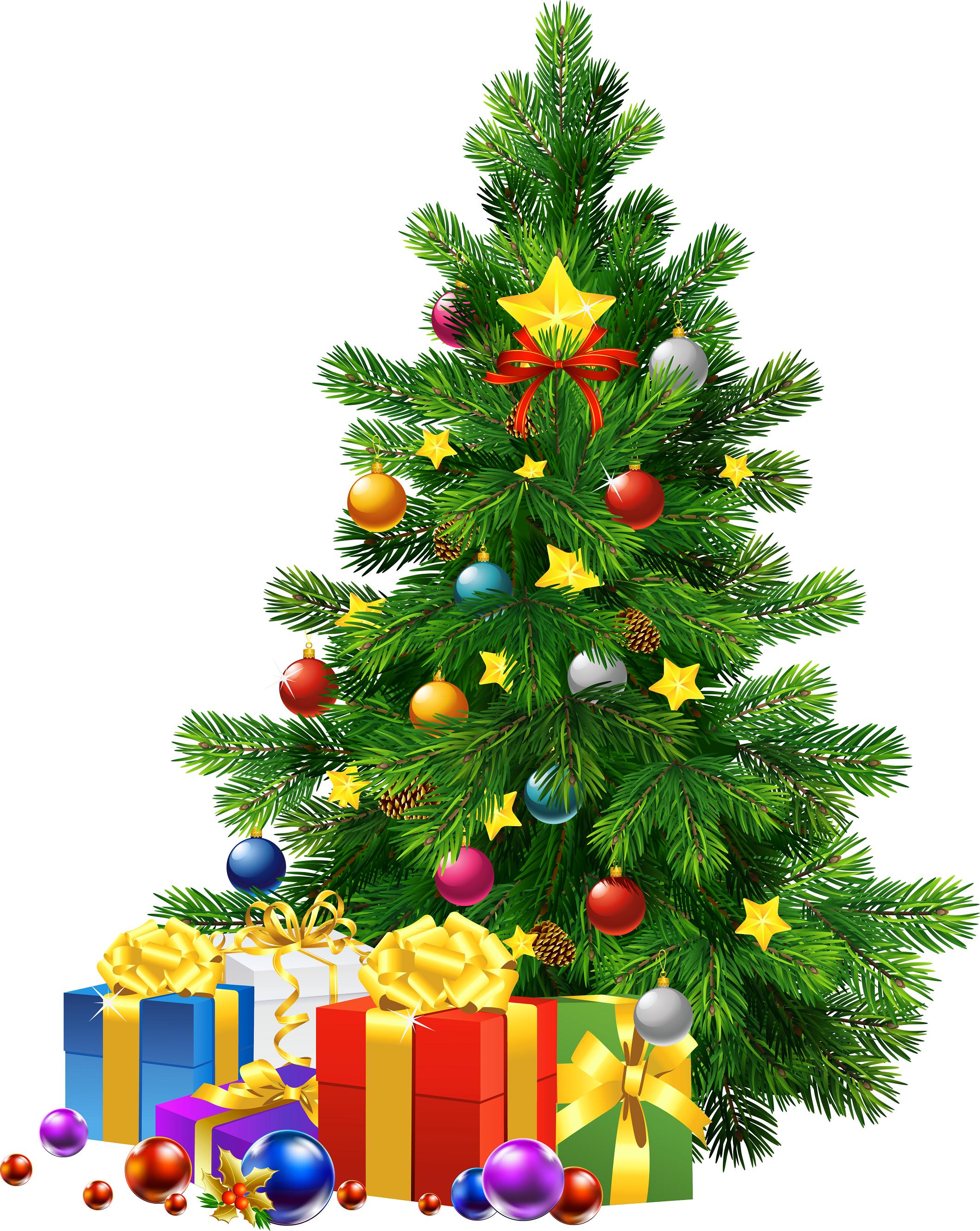 Gift clipart lot presents. Christmas tree clip art