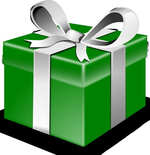 Gift clipart present outline. Secretlondon green clip art
