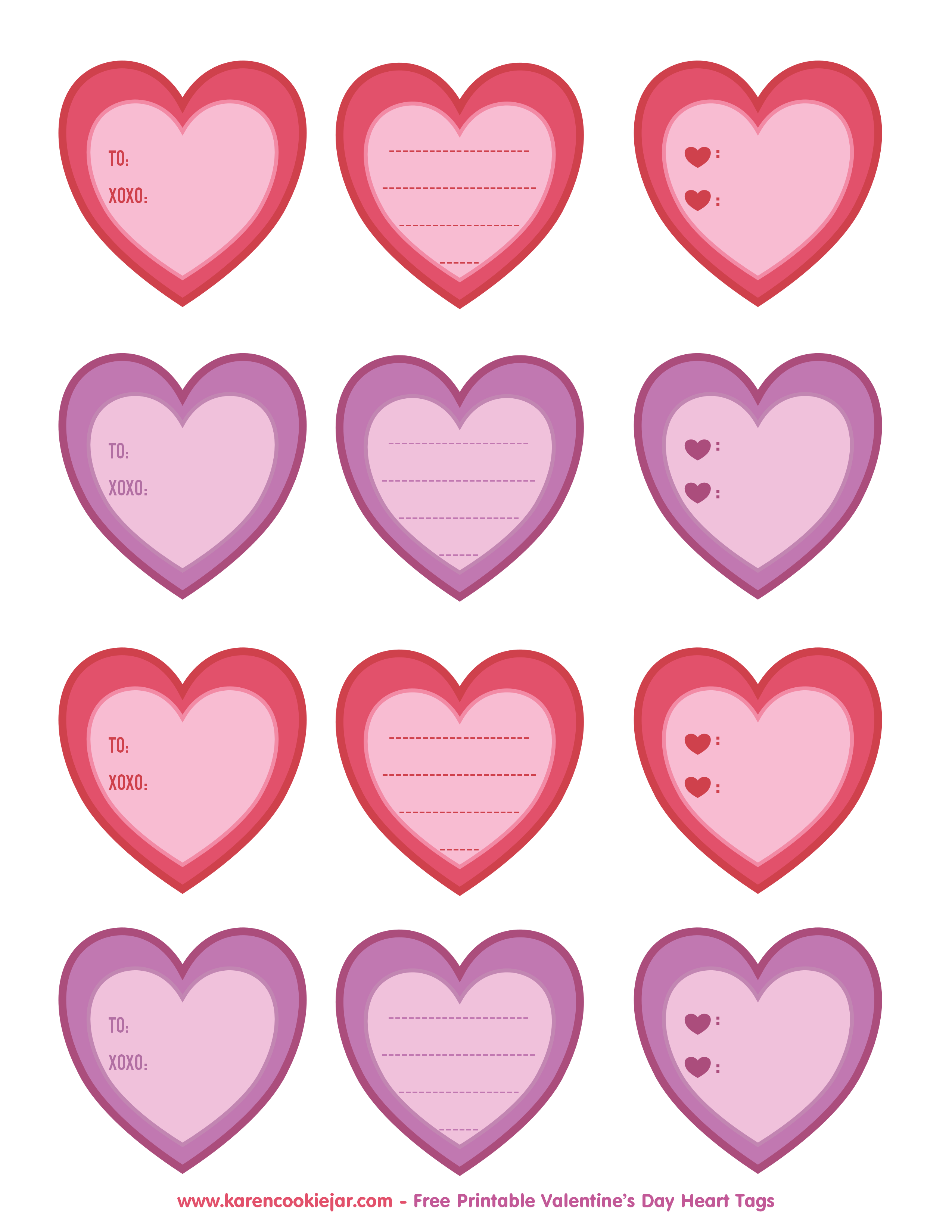 Gift clipart printable. Heart tags as vi