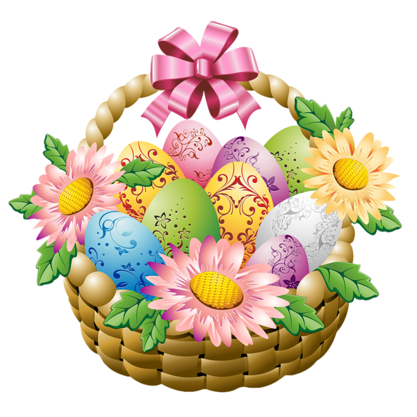 Flowers kiss smiley gallery. Gifts clipart prize basket