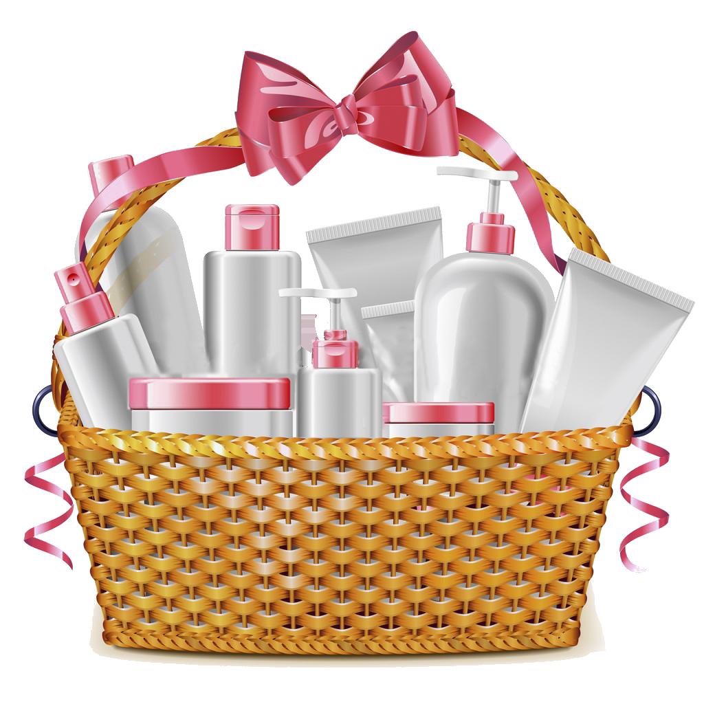 Raffle clipart hampers. Cosmetics food gift baskets
