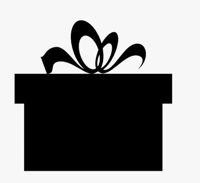 Download siluetas de cajas. Gift clipart regalo