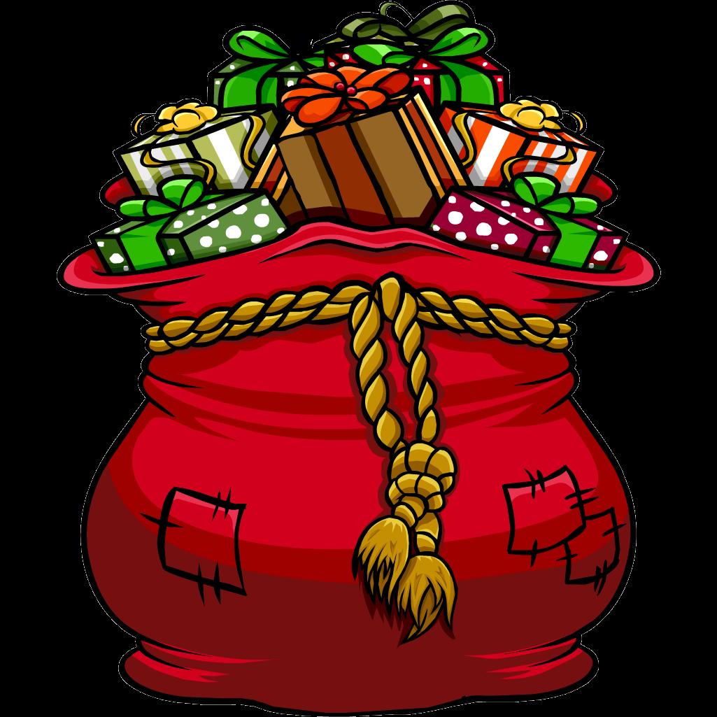 Free santa bag cliparts. Gift clipart sack