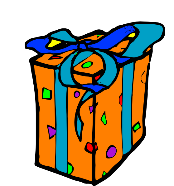 Gift clipart small gift. Wraped clip art at