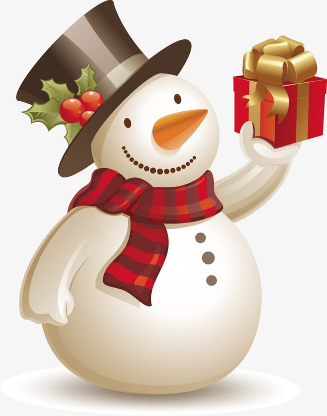 Gift clipart snowman. Vector gifts png and
