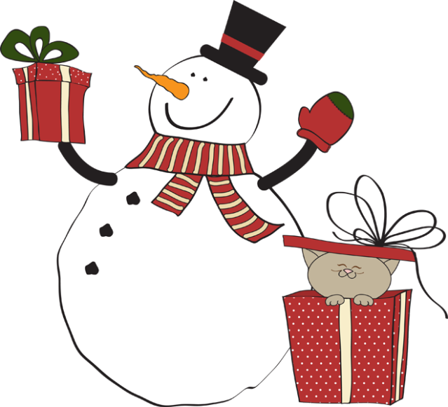 Gift clipart snowman. Great clip art of