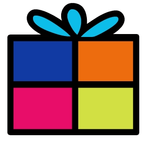 Square clipart square gift. Free birthday pictures download