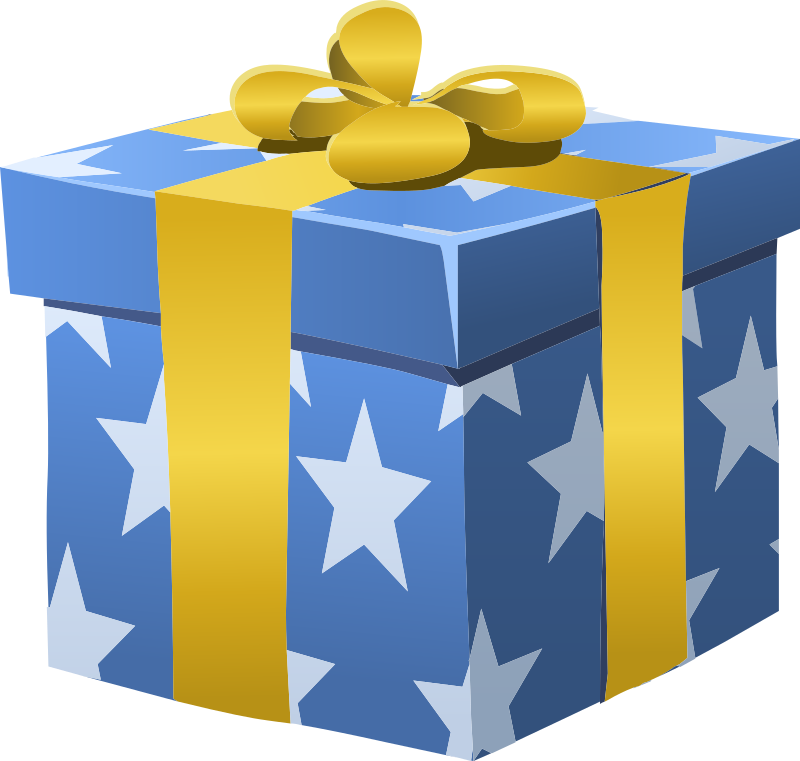 Gift clipart yellow. Misc bag box wrapped