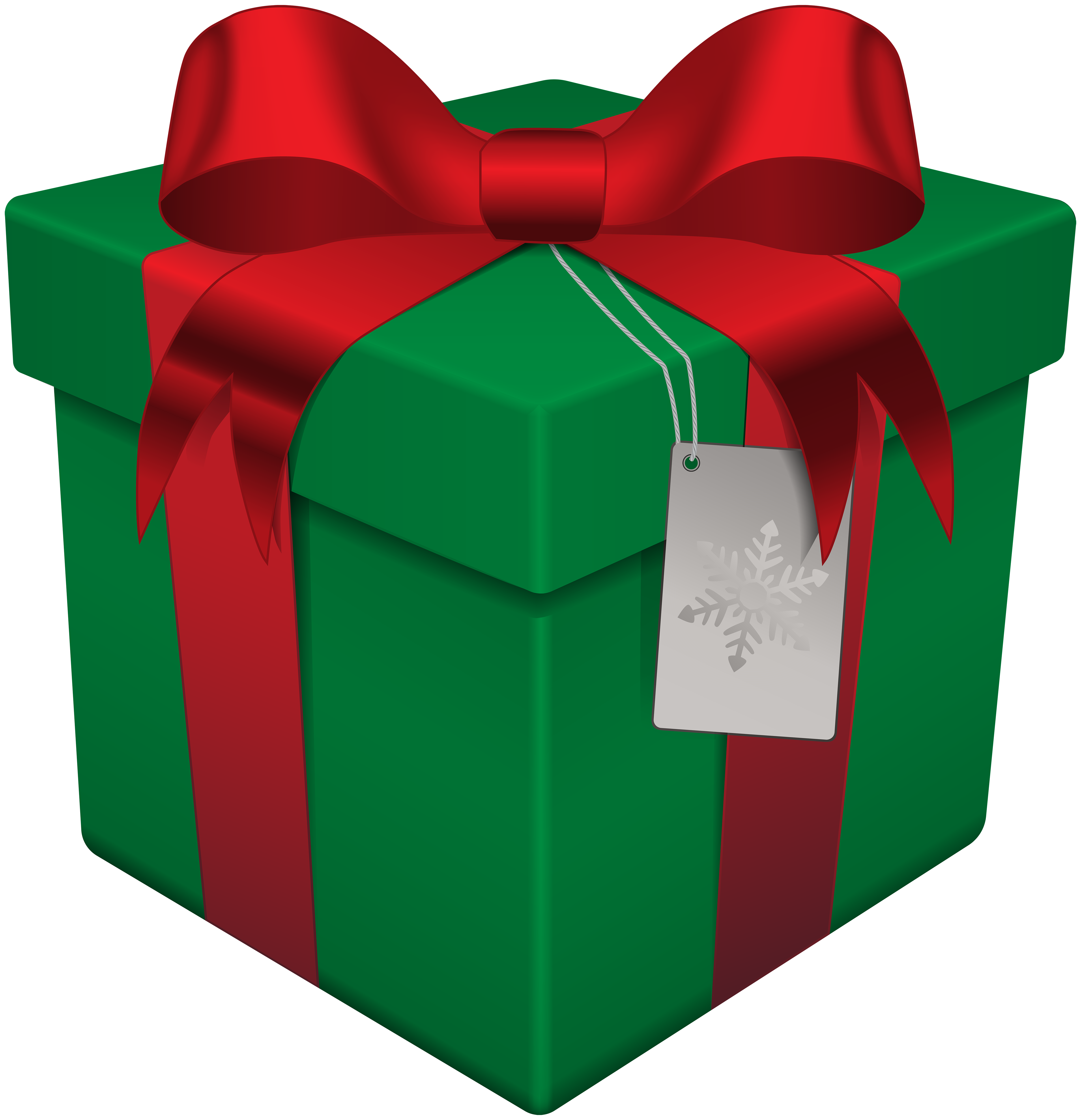 Christmas box green transparent. Gift clipart