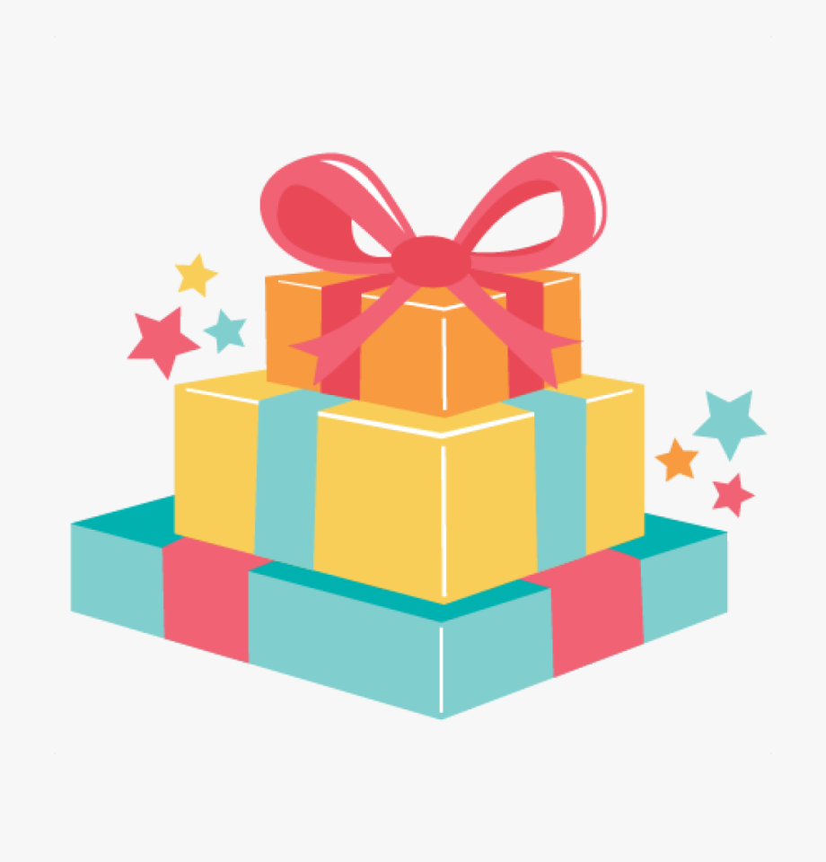 Birthday present gifts png. Gift clipart bithday