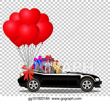 Vector stock black cabriolet. Gifts clipart bunch